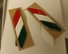 Fiat 500 (Genuine OE) Italian Flag Badges for Front Wings