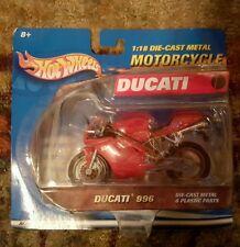 HOT WHEELS CUSTOM HONDA DUCATI 1:18 996 DIE-CAST MOTORCYCLE