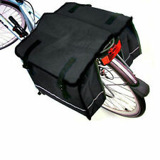 DOUBLE BICYCLE CYCLE PANNIER BAG WATER RESISTANT NYLON REAR BIKE RACK CARRIER