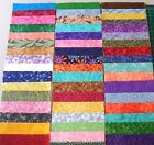 "100~ 5"" Fabric Squares Quilting Charm Pack Pre Cut 100% Cotton Patchwork Blocks"