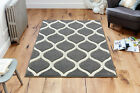 GREY CREAM Abstract Easycare Modern Contemporary Rug Runner S- Large 30%OFF
