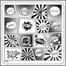 MoYou Nail Fashion Square Stamping Image Plate 479 Urban Style