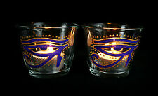 Eye of Horus Glass Candle Holders  Altar Wicca Pagan Yule Gift Egyptian Witch