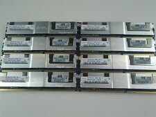 Lot of 8x 8GB (64GB) PC2-5300F  Fully Buffered ECC REG DDR2 Memory HP 398709-071