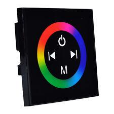 Touch Panel Full-color Dimmer Controller For RGB LED Light Strip Lamp DC 12V-24V