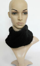Hand knitting genuine mink fur cowl snoods headband scarf super nice quality