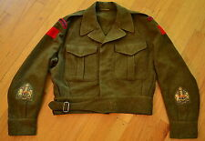 Vintage Korean War Era ROYAL CANADIAN ENGINEERS Battle Dress Blouse Patches Sz 9