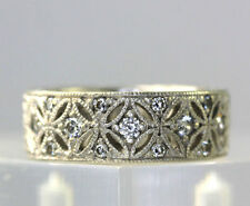 Tacori Sterling Silver Diamonique Epiphany Harlequin Eternity Band Ring SZ 5.75