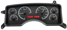 Dakota Digital 90-93 Ford Mustang Analog Dash Gauges Black Alloy Red VHX-90F-MUS