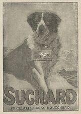 W3545 Puro latte, Cacao e Zucchero SUCHARD - Pubblicità 1927 - Advertising