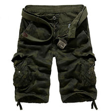 Mens Military Army Cargo Combat Camo Camouflage Work Pants Trousers Shorts