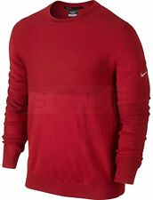 Nike Tiger Woods Collection MENS XL Engineered Wool Sweater RED 620148-657 $140