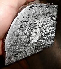 AMAZING 905 GM. GIBEON ETCHED METEORITE SLICE PROFESSIONALLY ETCHED!!