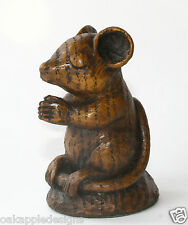 Church Mouse Praying Ornament Cute Mice Carving unique gift Cathedral Prayer Oak