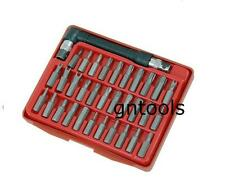 33pc Security Screwdriver Bit Set 25mm With Driver Handle Tri-Wing, Torq & Hex