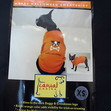 CASUAL CANINE Happy Halloween Dog Sweatshirt XS Extra Small Orange Sweater