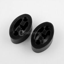 Classic Mini Polyflex Exhaust Hanger Mounts BLACK poly rover inj spi mpi pair