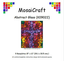 MosaiCraft Pixel Craft Mosaic Art Kit 'Abstract Glass' (Like Paint by Numbers)