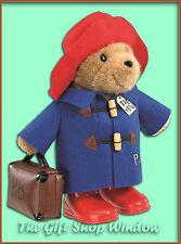 LARGE PADDINGTON BEAR PLUSH SOFT TOY WITH SUITCASE & WELLINGTONS SUPERB QUALITY
