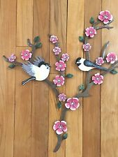 Cherry Blossoms & Branches Wall Art Birds Tree Asian Art Spring Floral Decor