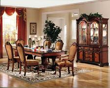7PC FORMAL CHATEAU RUSTIC CHERRY FINISH WOOD DINING TABLE SET