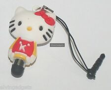 Hello Kitty Capacitive Touch Pen Stylus With Earphone Plug Cover For Cellphone
