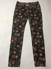 Miss Me Cargo 27 Black Floral Ankle Skinny Jeans CP4019AK3