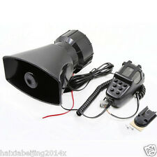 12V 80W Tweeter Car Truck Warning Loud Siren Horn Speaker 7 Sound MIC Microphone