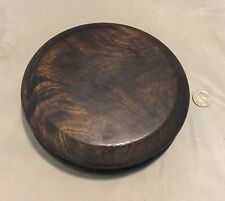 "6.25"" Dark Brown Chinese Oriental Wooden Lid Cap Cover for Ginger Jar & Vases"