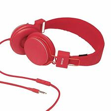 Genuine iCandy iCans - Red Stereo Headphones with Microphone