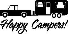 RV camping outdoor trailer happy campers vinyl decal sticker
