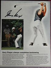AUTOGRAPHED PHOTO GOLF PRINTED ON CARDBOARD BACKER PRO GOLFER  GARY PLAYER