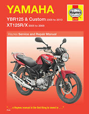 Haynes Yamaha YBR125 & XT125 XT125R 2005-2013 Manual 4797 NEW