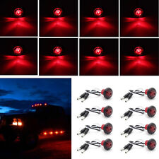 "8x3/4"" Red Hawkey Bullet Round Car Truck Trailer Side Marker LED Clearance Light"
