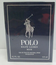 Polo Blue Cologne by Ralph Lauren, 4.2 oz EDT Spray for Men NEW