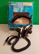Philips EM-6309 Vintage Style Black Retro Over Ear Padded  Headphones (m4b)