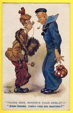 cpa POST CARD COMIQUE Séries Signée DUDLEY BUXTON Marin et Marraine de Guerre