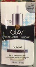 NEW- OLAY REGENERIST LUMINOUS-FACIAL OIL DAILY TREATMENT 1.3 oz. !