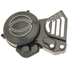 CARTER MOTORE COPRI PIGNONE CARBON LOOK CATENA DERBI SENDA SIDE ENGINE COVER
