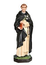 Statua San Domenico di Guzmàn cm 82 - In vetroresina con occhi di vetro