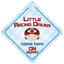 Little Racing Driver On Board Child/Baby Boy Car Sign