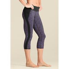 Athleta Women's Tangram Capri Leggings Black Purple Stripes Size: L Large