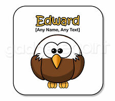 Personalised Gift Bald Eagle Bird Animal Coaster Novelty Fun Present Idea Square