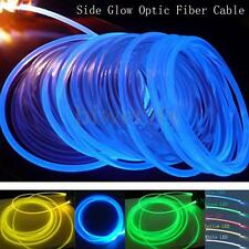 2mm 5m 16Ft LED Lighting Side Glow Optic Fiber Cable Waterproof For Car Home Bar