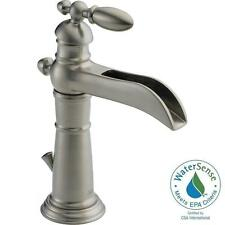 DELTA 554LF-SS VICTORIAN SINGLE HANDLE LAVATORY FAUCET WITH DRAIN