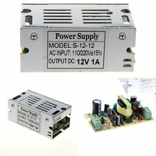 New 12V 1A 12W AC/DC Voltage Regulated Switching Converter LED Power Supply
