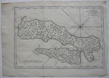 Isla de Ambón Molucas malaku indonesia ORIG grabado mapa angélico 1750