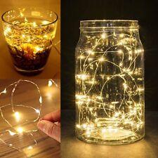 10er LEDs Drahtlichterkette Micro Lichterkette   Warm weiß  wasserdicht DIY