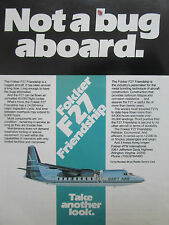 5/1980 PUB FOKKER AIRCRAFT HOLLAND FOKKER F27 FRIENDSHIP SWIFT AIRE AIRLINE AD
