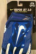 NWT XL X-Large NIKE VAPOR JET 3.0 Football Gloves Blue White GF0485 441 BYU